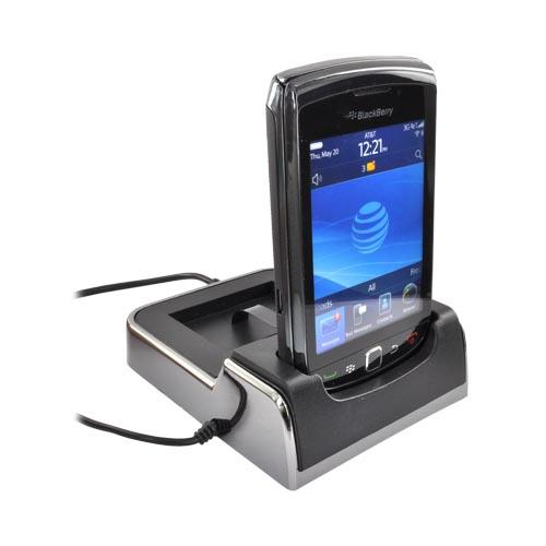 Blackberry Torch 9800 Desktop Sync and Charge Cradle w/ AC Charger and USB - Black