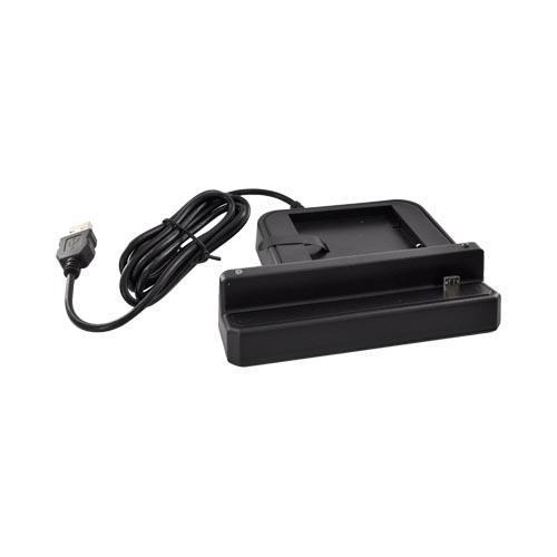 HTC Sensation 4G 3-in-1 Cradle Desktop Sync n'Charge Phone/ Battery Charger - Black