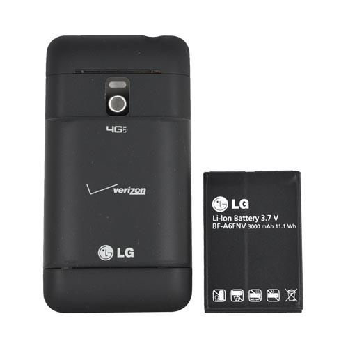 Original Verizon LG Revolution, LG Esteem Extended Battery (3000 mAh) w/ Rubberized Door, EAC61598501 - Black