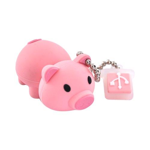 Original EMTEC 4GB Flash Drive, EKMMD4GM319 - Pink Pig