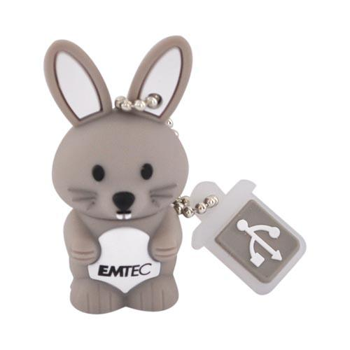 Original EMTEC 4GB Flash Drive, EKMMD4GM321 - Gray Bunny