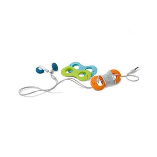 Original Belkin TuneTie Cable Organizer,Orange,Lime Green,Baby Blue - F8Z053-3-GOB ( 3 Pack)