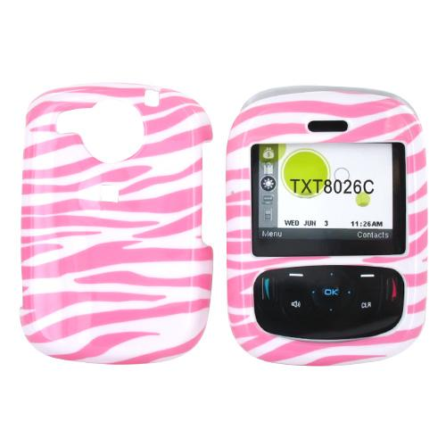 Cricket TXTM8 Hard Case - Baby Pink Zebra on White