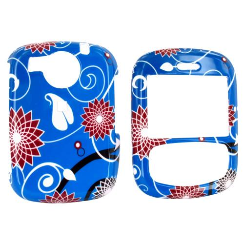 PCD Cricket TXTM8 Rubberized Hard Case - Flowers on Blue