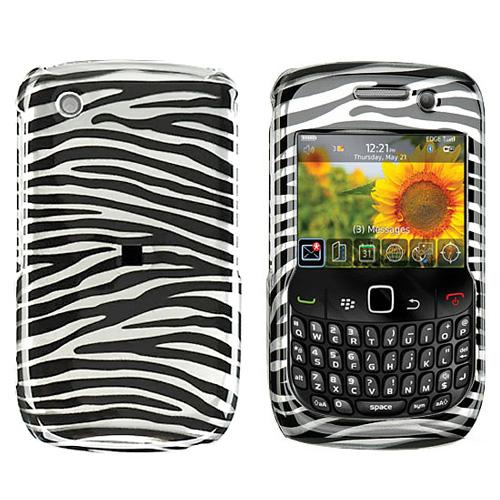 Blackberry Curve 3G 9330, 9300, 8520, 8530 Hard Case - Black Zebra on Silver