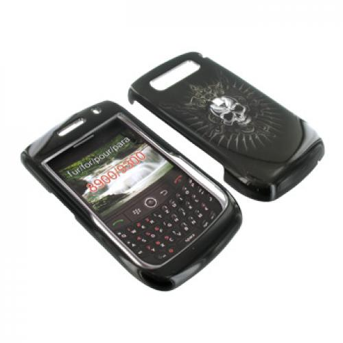 Blackberry Curve 8900 Hard Case - Cross Skull on Black