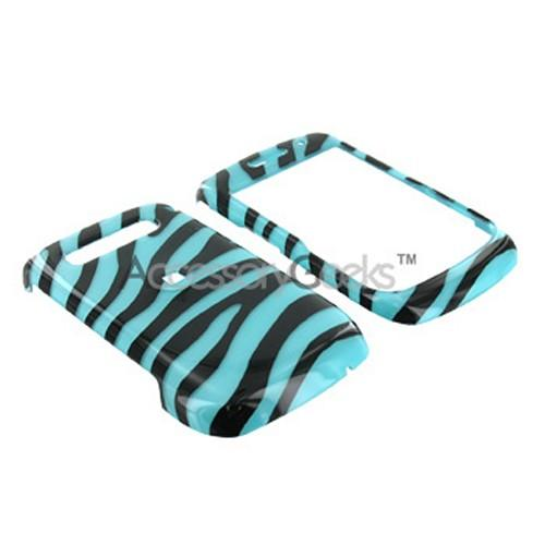 Blackberry Curve 8900 Hard Case - Turquoise Zebra