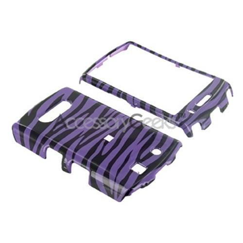 Blackberry Storm 9530 Hard Case - Purple Zebra