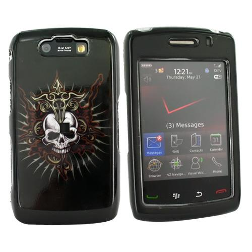 Blackberry Storm 2 9550 Hard Case - Cross Skull on Black
