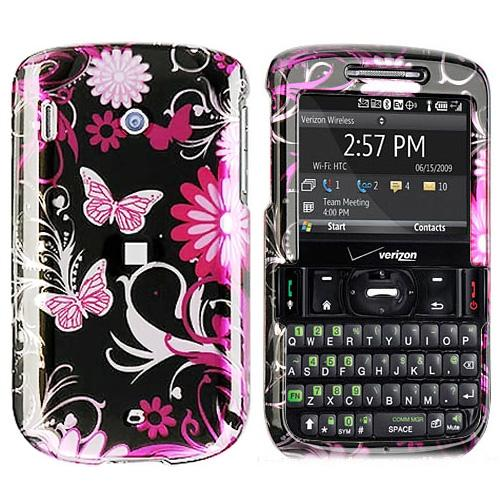 HTC Ozone XV6175 Hard Case - Floral & Butterflies on Black