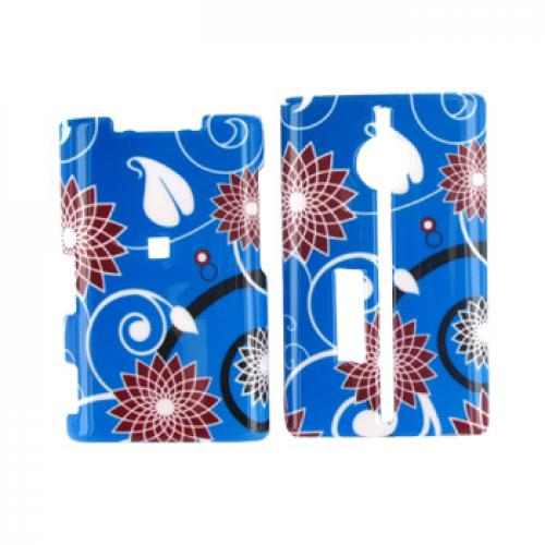 Kyocera Neo E1100 Hard Case - Floral on Blue
