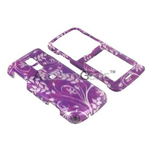 LG Glance VX7100 Hard Case - Floral on Purple