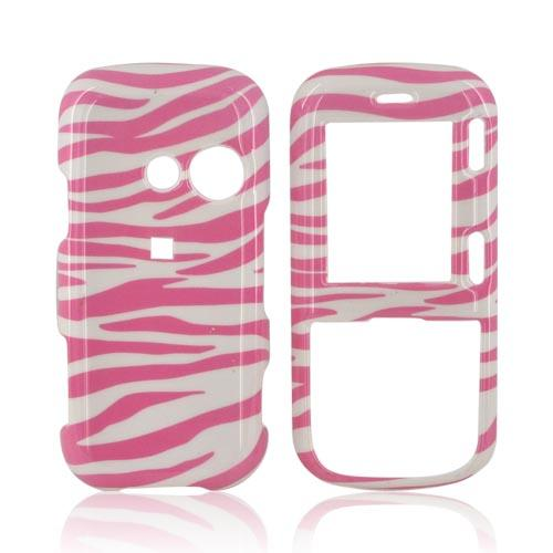 LG Rumor 2 AX265 Hard Case - Zebra on Pink
