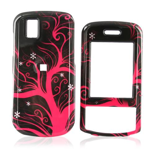 LG Shine II GD710 Hard Case - Hot Pink Tree on Black