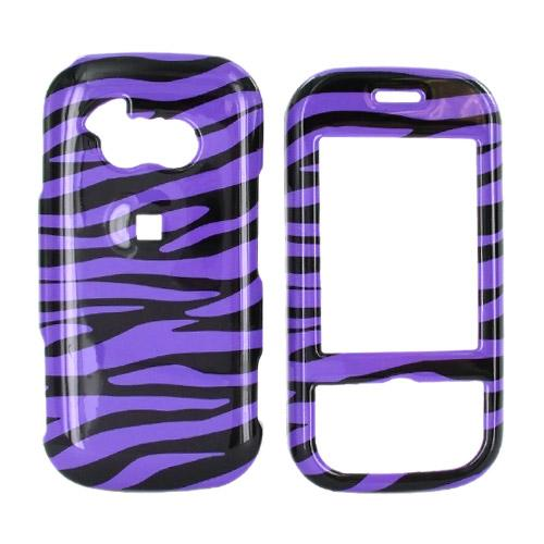 LG Neon GT365 Hard Case - Purple/Black Zebra