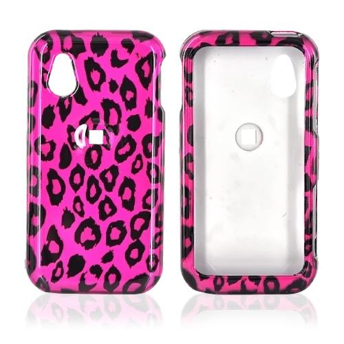 LG Arena GT950 Hard Case - Black Leopard Print on Hot Pink
