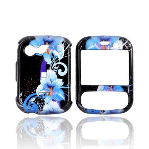 LG Remarq LN240 Hard Case - Blue Flowers on Black