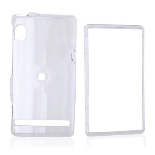 Motorola Droid A855 / Milestone Hard Case - Transparent Clear