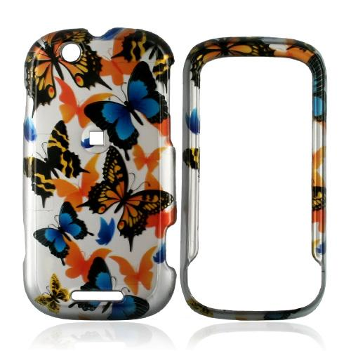 Motorola CLIQ Hard Case - Colorful Butterflies