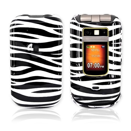 Motorola Brute i680 Hard Case - White/Black Zebra