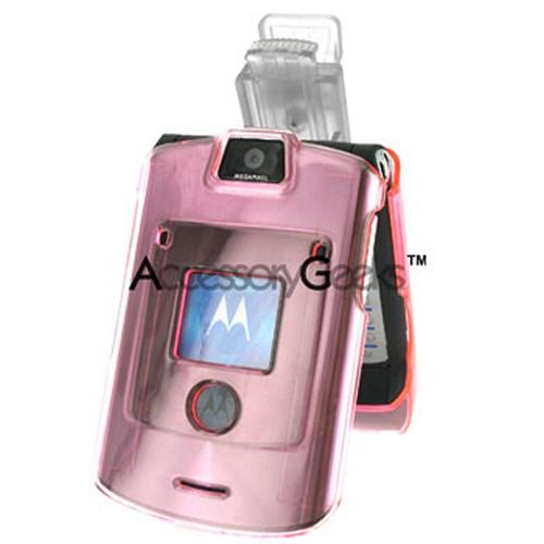 Motorola V3i / V3r Transparent Pink Hard Case
