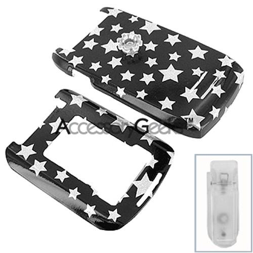Motorola Maxx VE Protective Hard Case - Silver Stars on Black