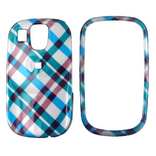 Samsung Flight A797 Hard Case - Checkered Diamonds of Blue, Green, Brown, Silver