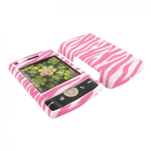 Samsung Propel Pro i627 Hard Case - Baby Pink Zebra on White
