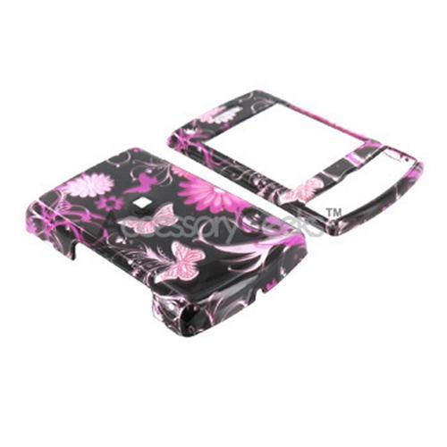 Samsung Propel Pro i627 Hard Case - Floral on Black