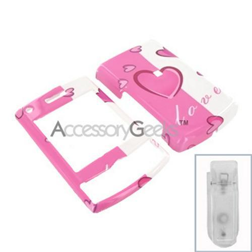 Samsung Propel Pro Hard Case - 2 Tone Hearts