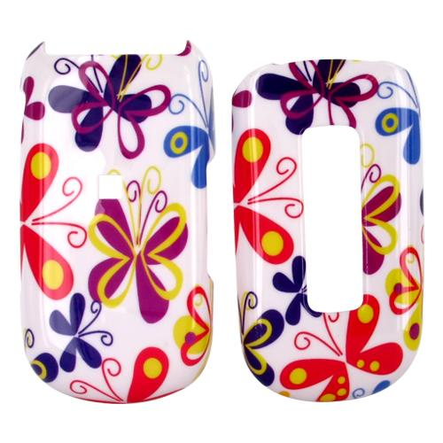Samsung M240 Hard Case - Colorful Butterflies on White