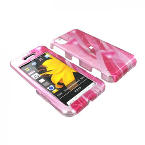 Samsung Finesse R810 Hard Case - Pink Heart Trail