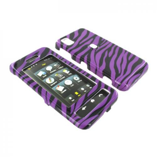 Samsung Finesse R810 Hard Case - Purple Zebra