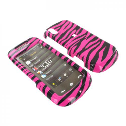 Samsung Instinct S30 Hard Case - Hot Pink Zebra