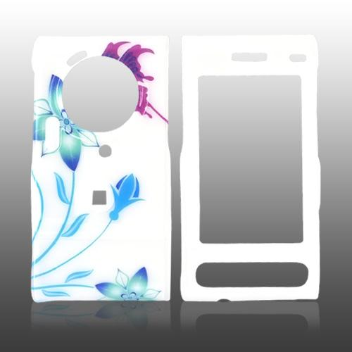 Samsung Memoir T929 Hard Case - Flower and Butterfly on White