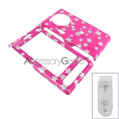 Samsung Memoir Hard Case - Silver Stars on Pink