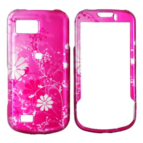 Samsung Behold 2 T939 Hard Case - Pink Floral Design On Pink