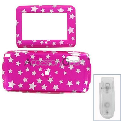Sidekick LX Protective Hard Case - Silver Star on Pink
