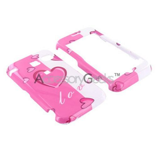 Sanyo 2700 Hard Case - 2 Tone Pink Hearts