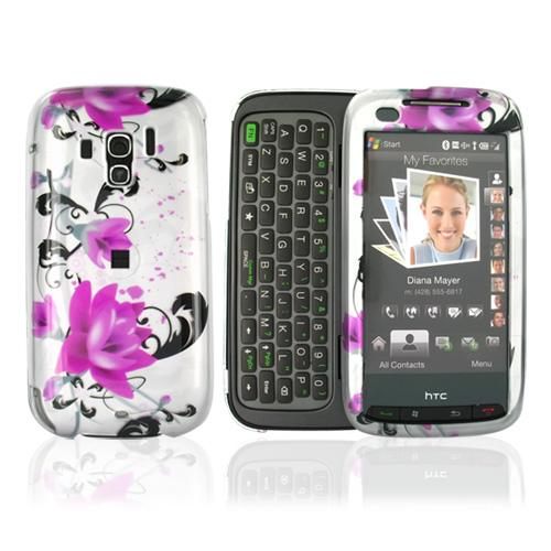 Verizon HTC Touch Pro 2 Hard Case - Pink Flowers on White