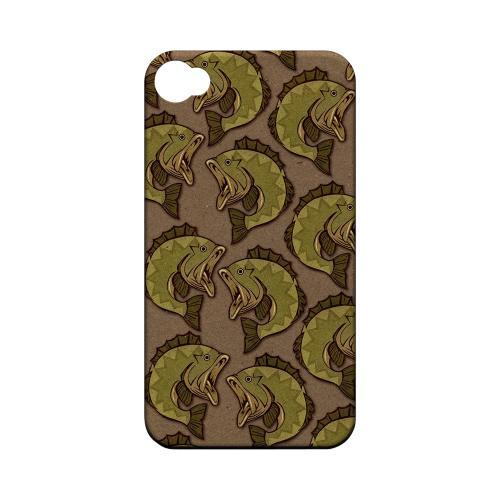 Geeks Designer Line (GDL) Fish Series Apple iPhone 4/4S Matte Hard Back Cover - Large Mouth Bass Design