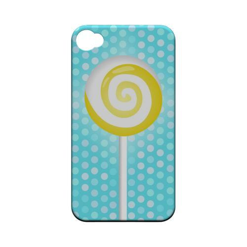Geeks Designer Line (GDL) Apple iPhone 4/4S Matte Hard Back Cover - Yellow Lollipop