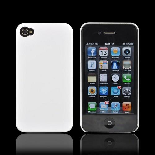 AT&T/ Verizon Apple iPhone 4, iPhone 4S Slim Hard Back Cover - Solid White