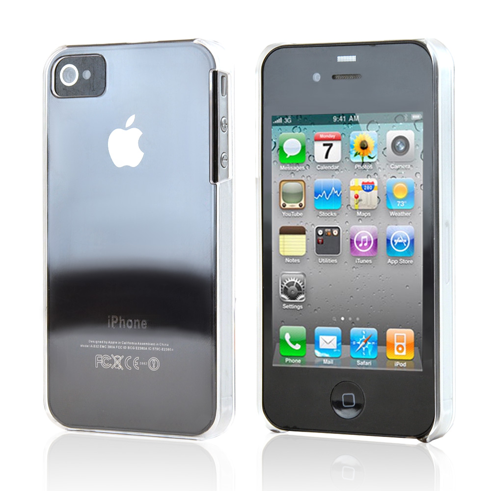 Apple iPhone 4/4S Ultra Thin Durable Hard Back Cover Only - Transparent Clear
