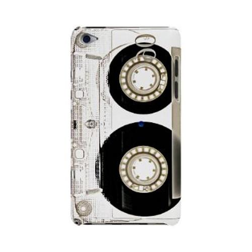 Geeks Designer Line (GDL) Retro Series Apple iPod Touch 4 Slim Hard Back Cover - Clear Cassette