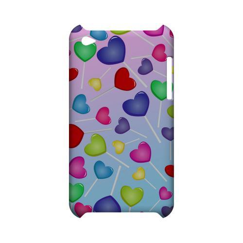 Assorted Heart Lollipops Geeks Designer Line Candy Series Slim Hard Back Cover for Apple iPod Touch 4