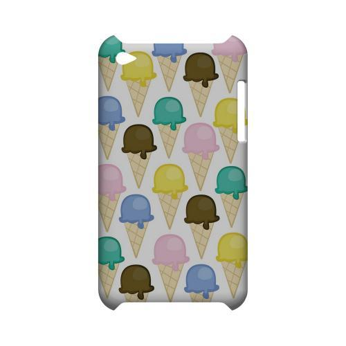Assorted Ice Cream Cones Geeks Designer Line Candy Series Slim Hard Back Cover for Apple iPod Touch 4