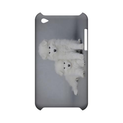 Samoyed Puppies Geeks Designer Line Puppy Series Slim Hard Case for Apple iPod Touch 4