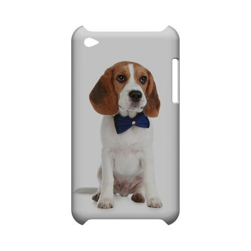 Beagle with Bow Tie Geeks Designer Line Puppy Series Slim Hard Case for Apple iPod Touch 4