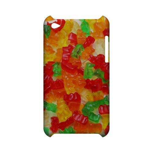 Multi-Colored Gummy Bears Geeks Designer Line Candy Series Slim Hard Back Cover for Apple iPod Touch 4
